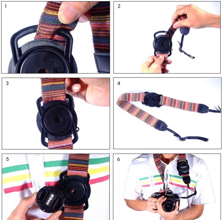一眼レフカメラ レンズキャップ ホルダー (レンズフード レンズプロテクター)カメラレンズキャップ用 バックル型ホルダー 40.5mm/49mm/62mm用【管理番号:A153】