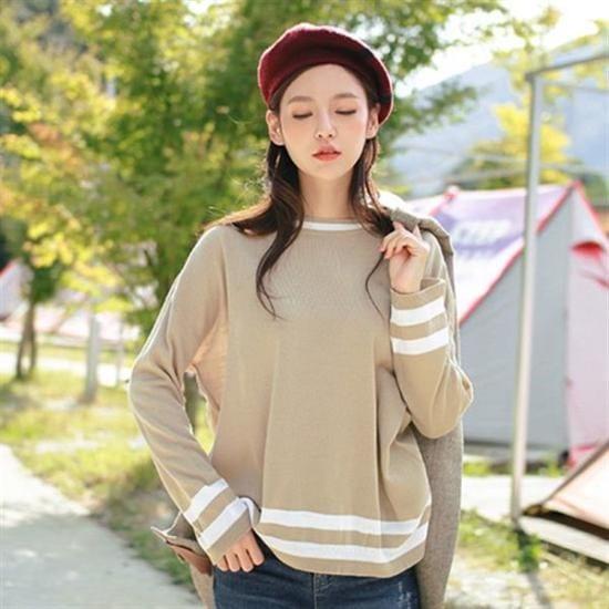 ボンジャショップボンジャ制作ダンカラ配色ニット ニット/セーター/ニット/韓国ファッション