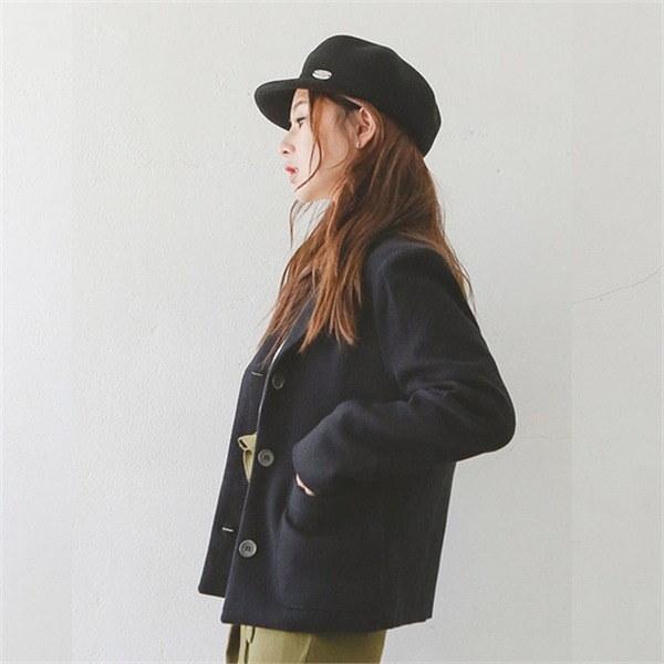 旅行、クラシック3ボタンジャケット 女性のジャケット / 韓国ファッション/ジャケット/秋冬/レディース/ハーフ/ロング/