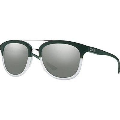 Smith Optics CLAYTON Sunglass, Carbonic super Platinum Lens, Matte Olive Crystal