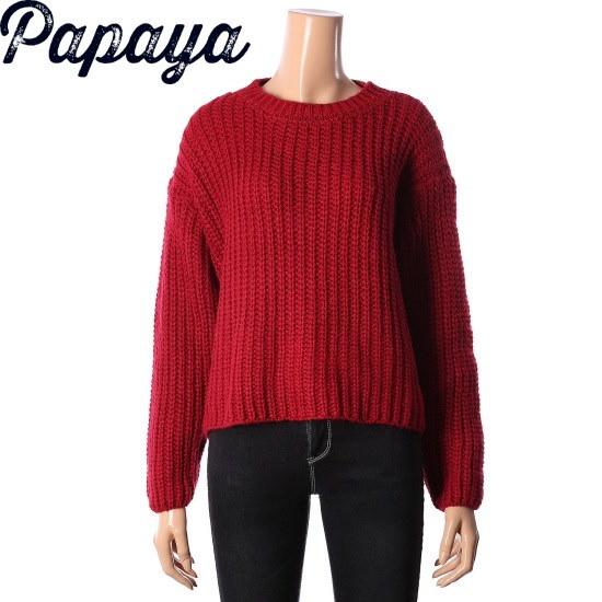 パパイヤパフ小売ニットシャツCNGRSW003D ニット/セーター/韓国ファッション