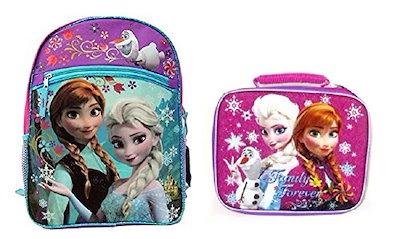 """Disney Frozen 16""""  Backpack & Lunch Bag ~ Elsa & Anna Family Forever"""