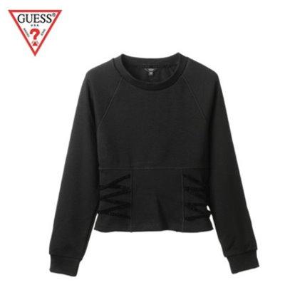 ゲス【Guess正規品】 レディースウエストサイドレースアップスウェットシャツ