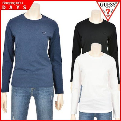 [ゲス(VIP)]女性ミニ▽の長袖シャツYJ1K9403 /プリントTシャツ/キャラクターTシャツ/韓国ファッション