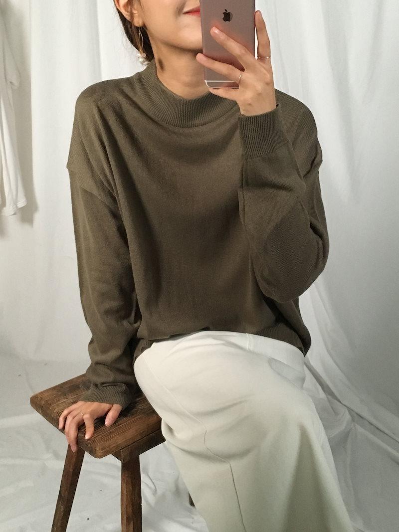 パニーニオンバルルーズフィットデイリーニットkorea fashion style