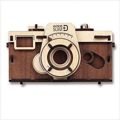 [フィルムカメラ] WOOD SUM ピンホールカメラ ウォルナット 天然木組立てD.I.Yキット