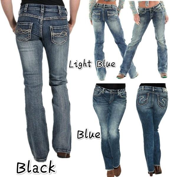 女性の時代を超越するデニムファッションジーンズセクシーなパンツ