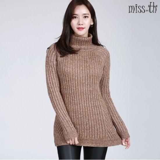 ミスティーに一ボカシポーラ・セーター ニット/セーター/タートルネック/ポーラーニット/韓国ファッション