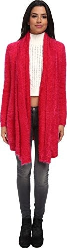 MINKPINK Womens Snuggle Up Cardigan Red/Pink Sweater MD (US 8-10)