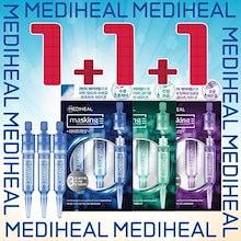 【 1+1+1】【 MEDIHEAL】【メディヒールマスキングレイヤリングアンプル】【 美容液】【 スキンケア】【 ハイドラ ショット】【 フォアマイナーショット】【エクセルトーニングショット】