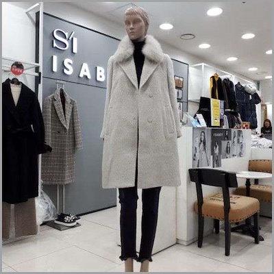 フォックスカラモヘアコート /ポコート/コート/韓国ファッション