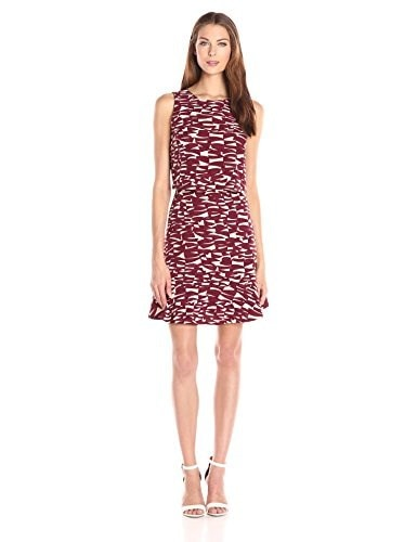 NIC+ZOE Womens Electric Breeze Dress, Multi, 16