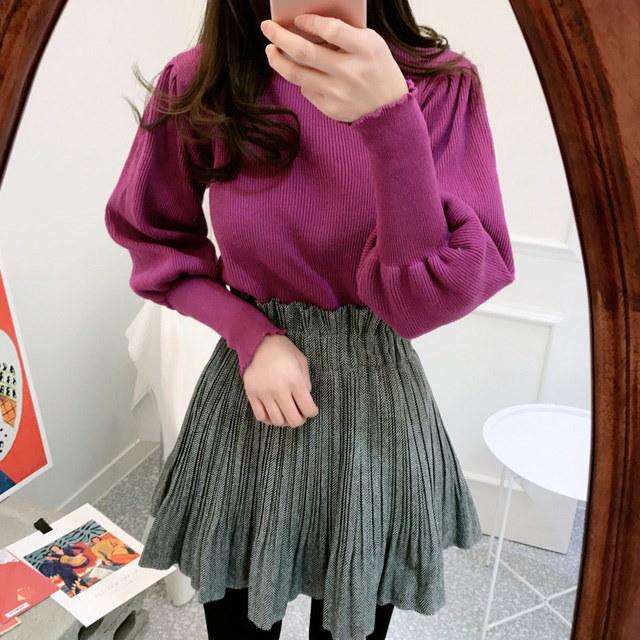 オたリーバルーンニットポーラkorean fashion style