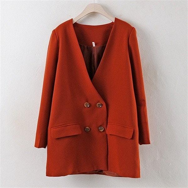 子供ウーマンノカラシムプルミジャケットPG1710ビックサイズ 女性のコート/ 韓国ファッション/ジャケット/秋冬/レディース/ハーフ/ロング/