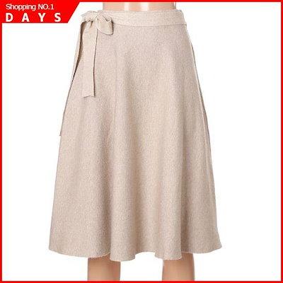 [オチョク]リボンベルト・ニットスカート(715-75531) / Aラインスカート/フレアスカート/スカート/韓国ファッション