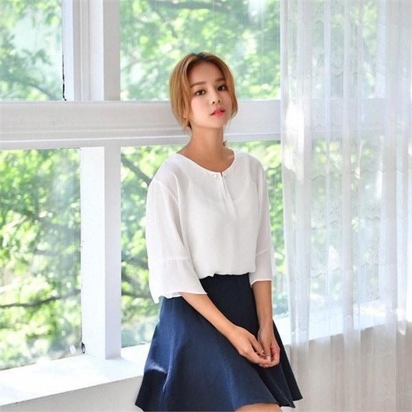 コロッケコーディネートブラウス4種セットnew 女性ニット/ Vネックニット/韓国ファッション