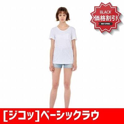 [ジコッ]ベーシックラウンドコットン半袖ティーシャツ7258240001301 /ソリッド/無地Tシャツ/ Tシャツ/韓国ファッション/