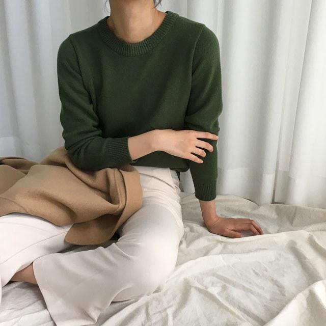 [ラルム】シェリー基本ニット5col korea fashion style