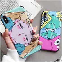 美少女戦士セーラームーンスポンジボブソフトフォンケースiPhoneXR Xs MaxケースiPhoneXケースiphone6sケースiphone7ケースiphone8 iPhone8 PLUSケース