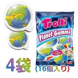 トローリ 🌏地球グミ🌏 4袋(16個入り)   TROLLI PLANET GUMMY