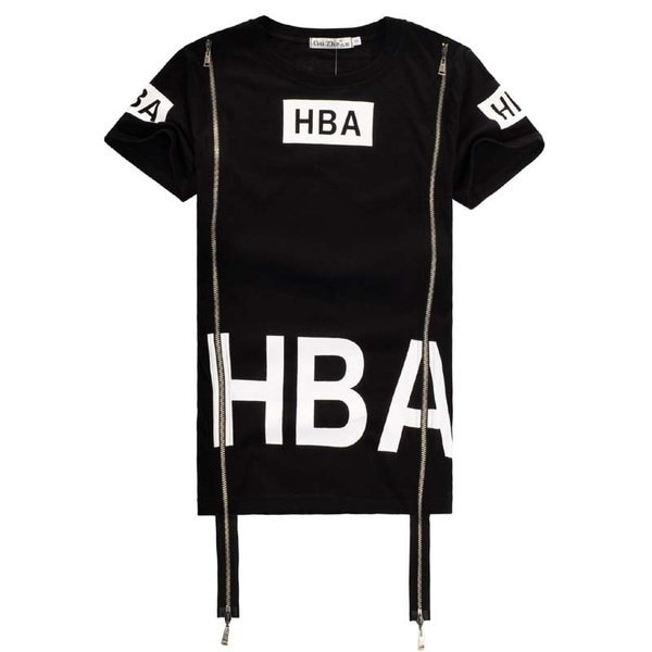 HBA    Printed round neck men and women short sleeve T-shirt