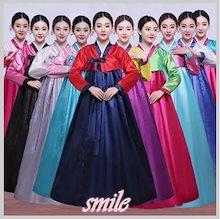 大人気 豪華 韓国風 民族衣装 チマチョゴリ  おしゃれ コスプレ コスチューム 無地 ハロウィン 韓服 パーティー ドレス フォーマル