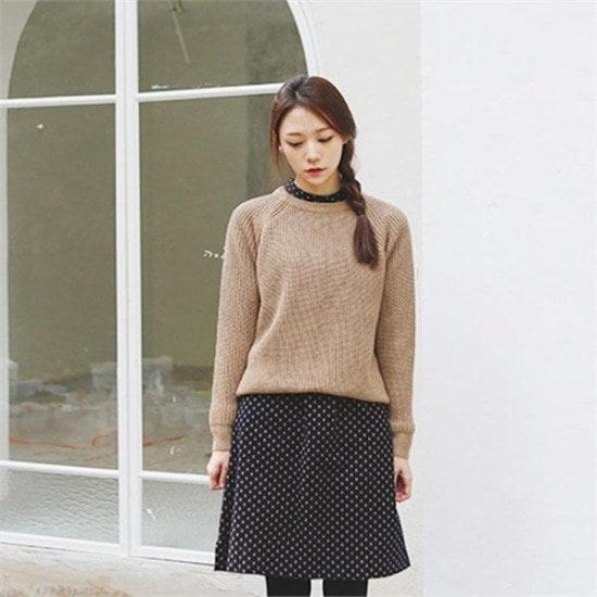 デイリー・マンデー行き来するようにデイリー・マンデーDaily basic round knitデイリーベイ ニット/セーター/ニット/韓国ファッション