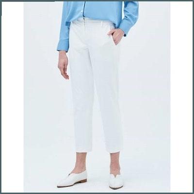 [ソン・アリ、ビーンポールレディース]、アイボリーストレッチスリムフィットスラックス(BF9221C060) /パンツ/面パンツ/韓国ファッション