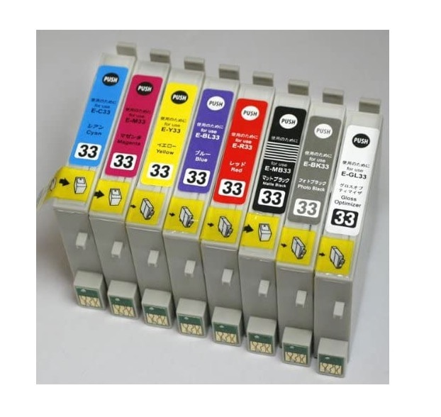 EPSON エプソン 【互換インク】 8色セット IC8CL33 ICチップ付