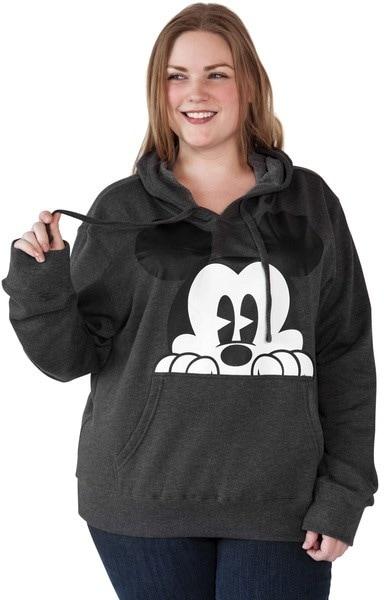 ディズニーミッキーマウスパーカーのスウェットシャツ - チャコールグレー