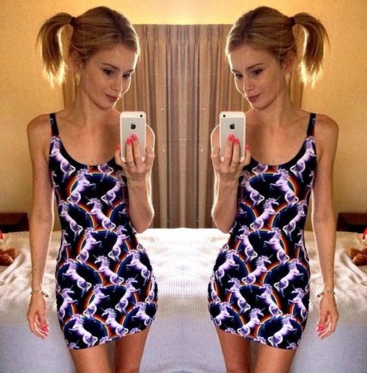 New Women Summer DRESS Attack of the Unicorn Dress Horse Dress