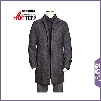 [レノマカジュアル]F/W裏地パディング!高級パターン毛織軽量コートRJLMBH76AJJ / パディング/ダウンジャンパー/ 韓国ファッション
