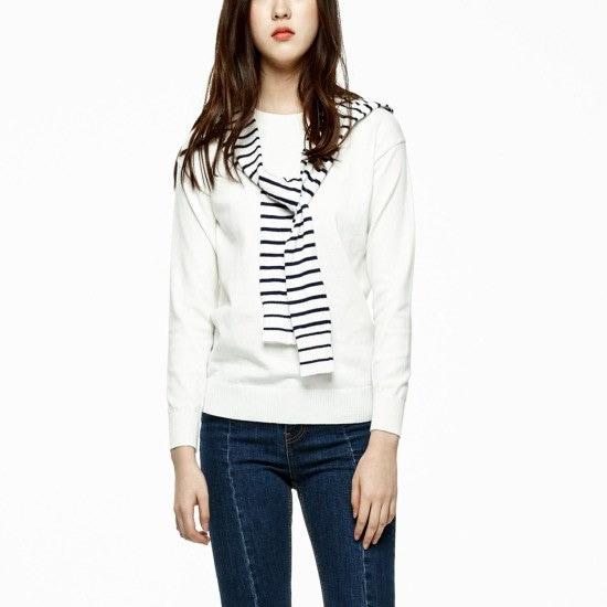 ラブLAP肩ダンカラ味わい担保プルオーバーAG4KHB23 ニット/セーター/韓国ファッション