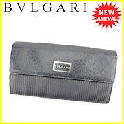 fbd46452c882 ブルガリ BVLGARI 長財布 財布 Wホック 三つ折り レディース メンズ 可 ミレリゲ ブラック シルバー PVC