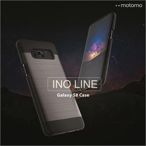 Galaxy S8 / S8 Plus ケース motomo INO LINE アルミ風 ヘアライン シンプル モダン シック カバー ギャラクシー ポリカーボネート