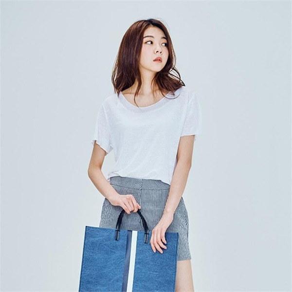 リンネンラウンドネックデイリー・ティーシャツJ91NTT857new 女性ニット/ラウンドニット/韓国ファッション