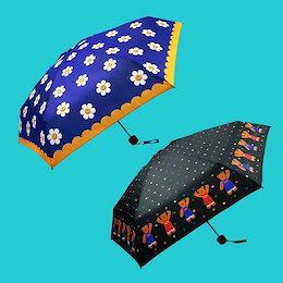[WIGGLE WIGGLE] ウィグルウィグルミニ3段日傘/傘兼用 2種類!携帯用 超軽量 紫外線遮断 3段 ミニ 傘