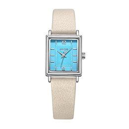 【ck318]ジュリアスノード正方形レザーレディース腕時計