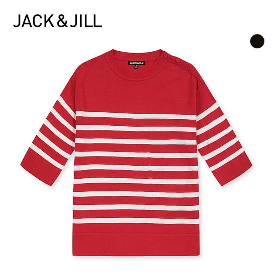 ジャック・アンド・質ジャック・アンド・質女性カジュアルSTボタン5部ニット32173SR504 ニット/セーター/ニット/韓国ファッション