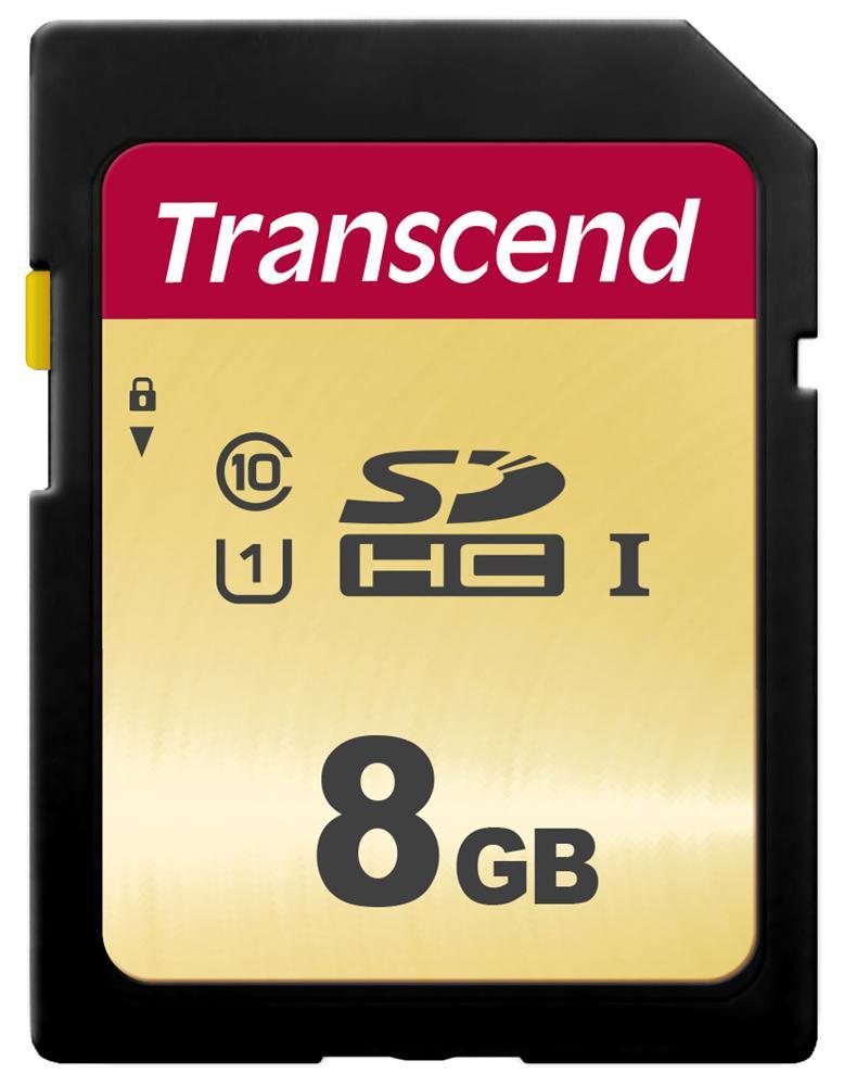 【正規国内販売代理店】トランセンド 8GB UHS-I U1 SDHCカード(MLC) TS8GSDC500S