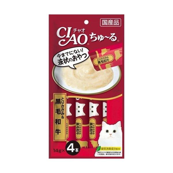 チャオ ちゅ〜る とりささみ&黒毛和牛 14gx4本 製品画像