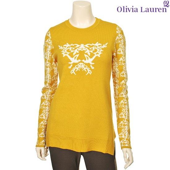 オリビアローレンカジュアル配色パターンと組み立てニットVOCBLQW923133 ニット/セーター/パターンニット/韓国ファッション