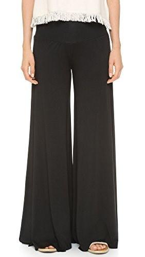 Rachel Pally Womens Essential Wide Leg Trouser, Black, Medium