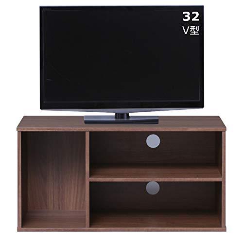 アイリスオーヤマ テレビ台 カラーボックス 収納ボックス 幅73.2x奥行29x高さ36.6cm ウォールナットブラウン モジュールボックス MDB-3S