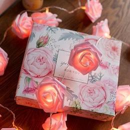 送料無料 花 led イルミネーション LED 薔薇 バラ ローズ プロポーズ  誕生日 北欧風 寝室 リビング 庭 結婚式 吊り下げる飾り クリスマス ロマン ガーデンライト 光る花 電飾 飾り