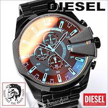 ディーゼル DIESEL 腕時計 クオーツ メンズ クロノ ブラック DZ4318 ミラーガラス ウォッチ  時計 うでどけい