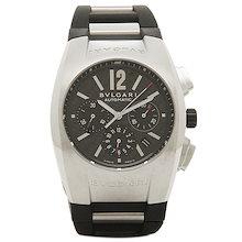 ブルガリ BVLGARI 時計 腕時計 メンズ BVLGARI ブルガリ エルゴン オートマチック クロノグラフ ラバー ブラック&シルバー/カーボンブラック メンズ EG40BSVDCH ウォッチ