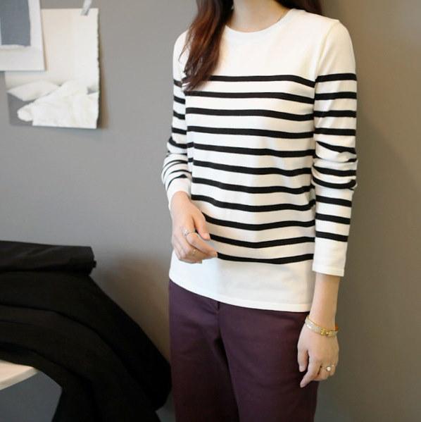 ガールズデイリーベディンダンカラ・ニット ニット/セーター/ストライプニット/韓国ファッション