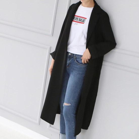 オーサムフィリップ・スリットロングジャケット231940 大きいサイズ/コート/韓国ファッション