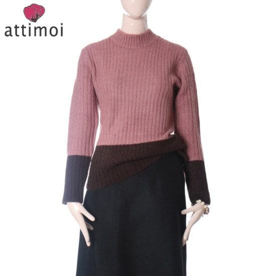 アティムアルーズフィット基本のポーラー・ニットATA740006 ニット/セーター/タートルネック/ポーラーニット/韓国ファッション